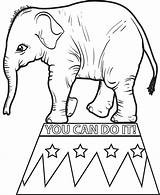 Circus Elephant Coloring Pages Printable Sheet Drawing Elephants Getcoloringpages Getdrawings sketch template