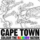 Coloring Town Cape Peninsula Pages Colouring Colour Mandela Nelson Nation Rainbow Map Pearl Designlooter 1000px 24kb 1000 Getcolorings Penin sketch template