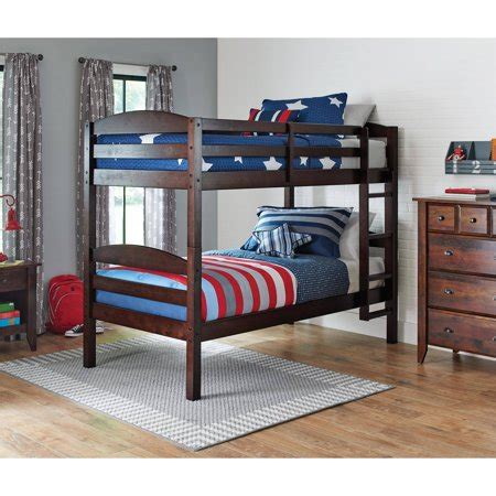 futon bunk bed walmart mainstays wood bunk bed finishes
