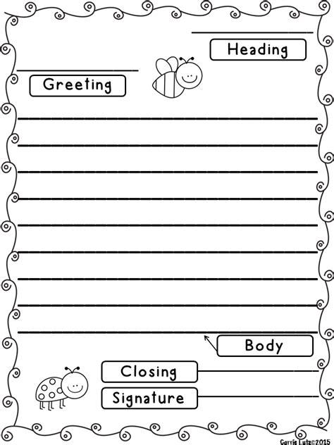 friendly letter templates  envelope    parts