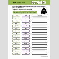 Oxymoron Worksheet  Free Esl Printable Worksheets Made By Teachers