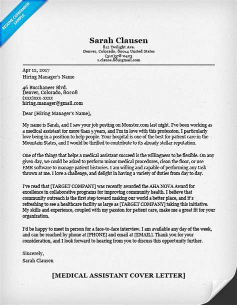 medical assistant cover letter  samplebusinessresume