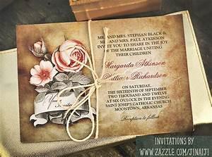 Vintage looking wedding invitations deepthroat blowjob for Rustic wedding invitations david s bridal