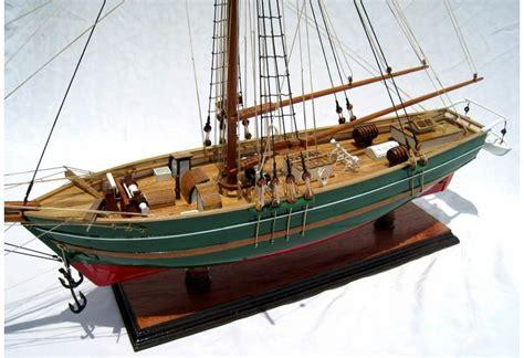 wooden sailing ship gjoa hand built model