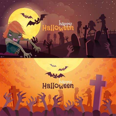 ✓ free for commercial use ✓ high quality images. Halloween banners set | Free Vector
