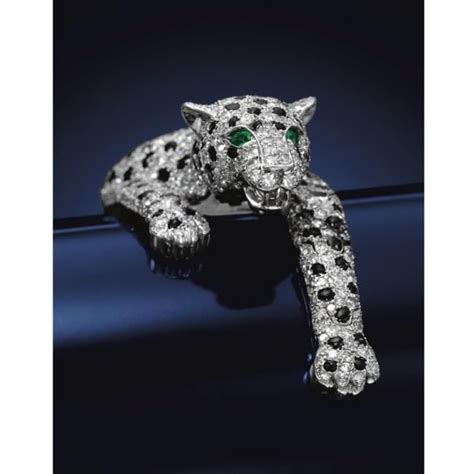 duchess  windsors onyx  diamond panther bracelet