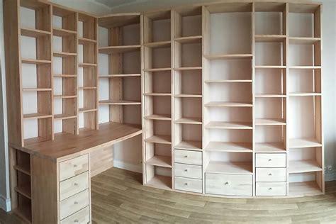 am駭agement bureau sur mesure fabrication bibliothèque et bureau d 39 angle sur mesure en bois