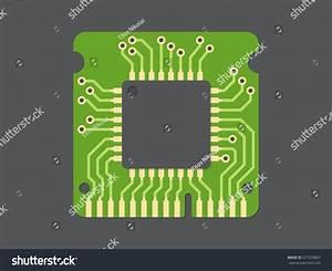 Randomaccess Memory Ram Flat Design Vector Stock Vector ...