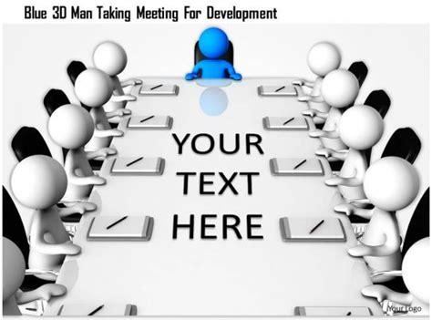 blue  man  meeting  development