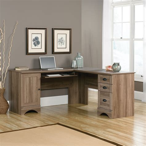 Desk For Home Office by Harbor View Corner Desk Salt Oak The Brick