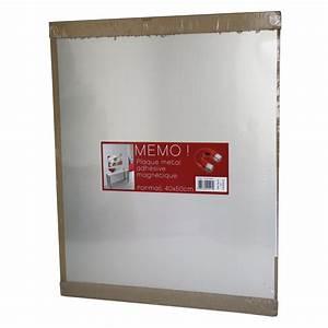 Plaque De Metal : plaque magn tique m tal bross argent x cm leroy merlin ~ Teatrodelosmanantiales.com Idées de Décoration