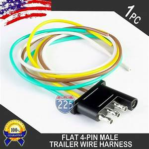 16 U0026quot  Male Trailer End Light Wiring Harness 18 Awg Gpt