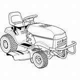 Lawn Mower Lawnmower Drawing Getdrawings Tractor Garden Zero Turn sketch template