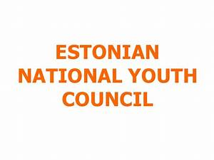 Participation in Estonia and the National Youth Council