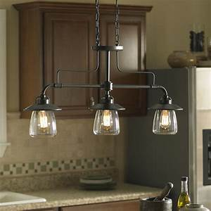 shop allen roth bristow 36 in w 3 light mission bronze With kitchen lights fixtures