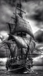 Pics For > Pirate Ship Black And White