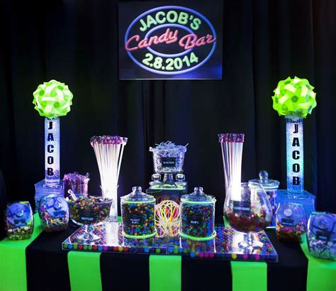 Neon Colored Candy Buffet Google Search Candy