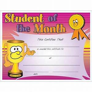 student of the month certificate promos on time With free printable student of the month certificate templates