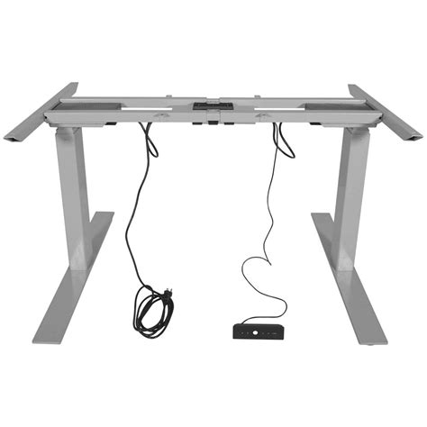 titan dual motor electric adjustable base height sit stand standing desk frame ebay