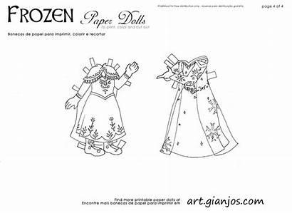 Frozen Elsa Paper Dolls Papel Bonecas Coloring