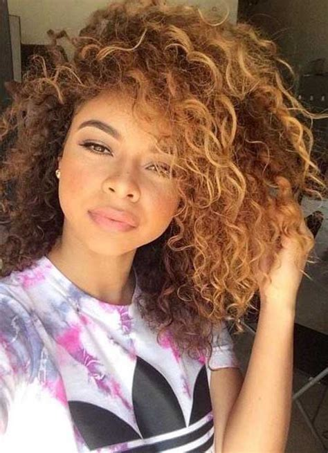 25+ Light Curly Hair Hairstyles and Haircuts Lovely