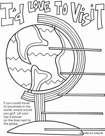 Coloring End Printable Compassion Letter Writing Globe