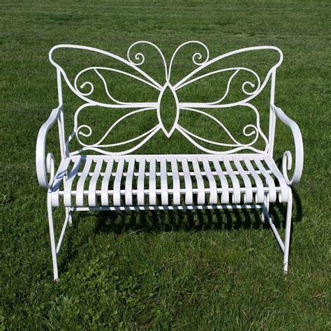 Banc Jardin Fer Forgé by Banc De Jardin En Fer Forg 233 Papillon Table Chaise