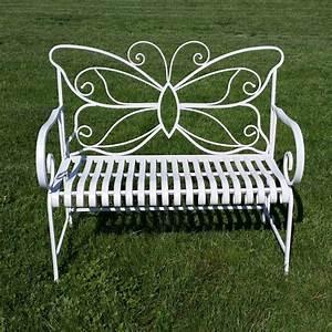 Banc De Jardin Fer Forgé : banc de jardin en fer forg papillon table chaise ~ Dailycaller-alerts.com Idées de Décoration