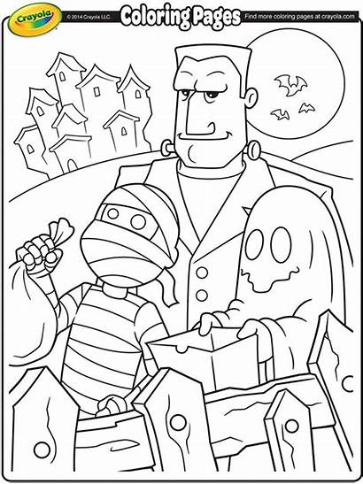 Coloring Halloween Crayola Trick Pages Treaters Printable