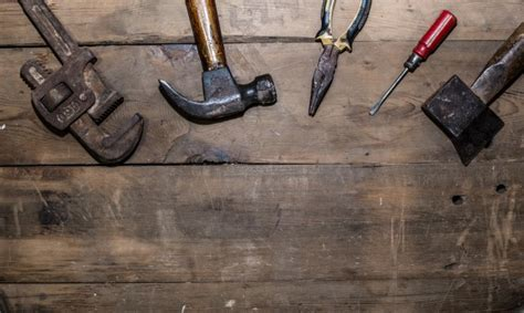 Old Tools Top View Photo  Free Download