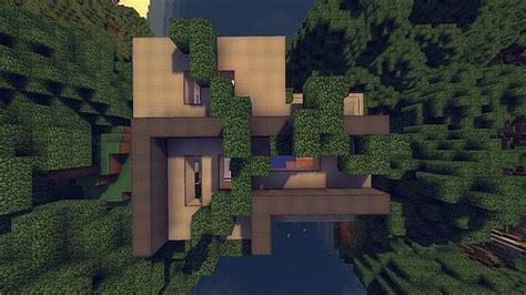 modern cliffside house minecraft house design