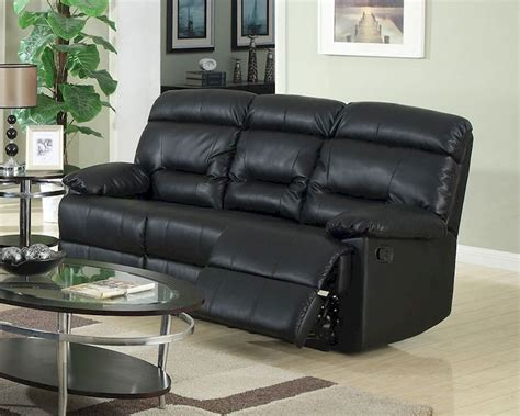 Contemporary Black Leather Sofa by Contemporary Black Leather Sofa Mcfsf8009 S