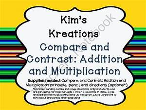 Compare And Contrast Multiplication And Division From Kim