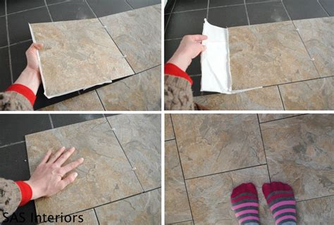 Groutable Vinyl Tile In Bathroom by How To Install Groutable Peel And Stick Vinyl Tiles To