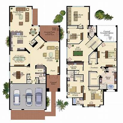 Floor Plans Colored Plan Dream Homes Modern