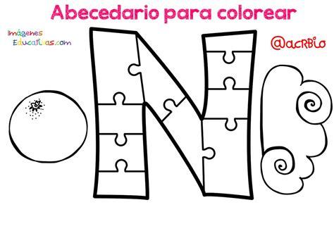 Abecedario para colorear (14) Imagenes Educativas