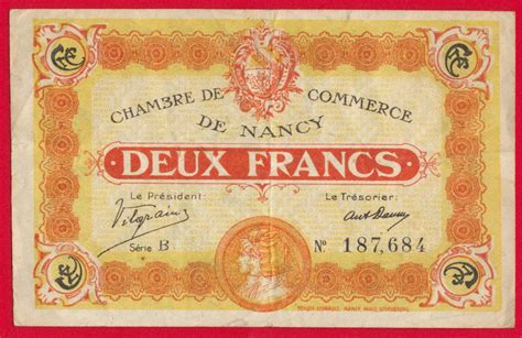 chambre de commerce nancy 2 francs chambre de commerce de nancy fdcollector