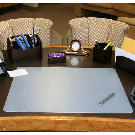 clear desk pad artistic 20 quot x 36 quot eco clear desk pad with