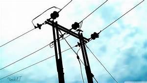 Electric Wire Pole 4k Hd Desktop Wallpaper For 4k Ultra Hd