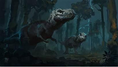 Dinosaur Kings Artwork Painting Animals Wallpapers Tyrannosaurus