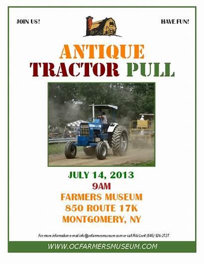 Tractor Pull Antique Orange