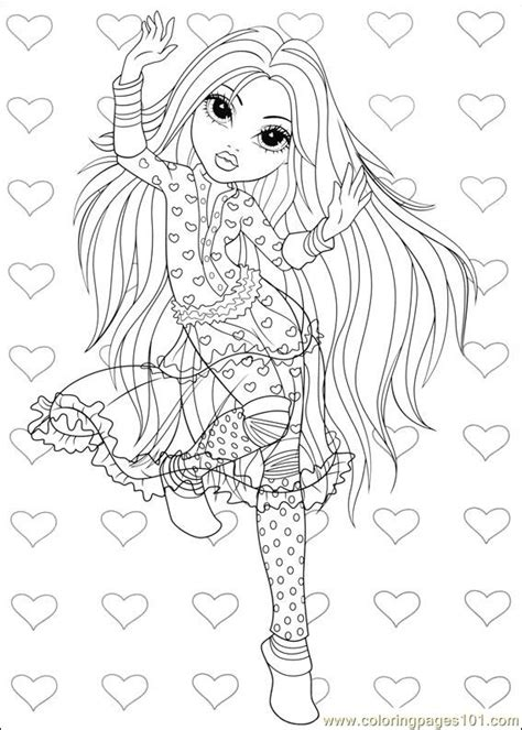 moxie girlz  coloring page  miscellaneous coloring pages coloringpagescom