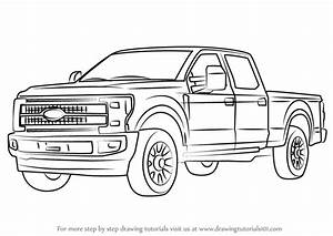 4x4 truckss how to draw 4x4 trucks step by step With 1995 ford f 250 sel