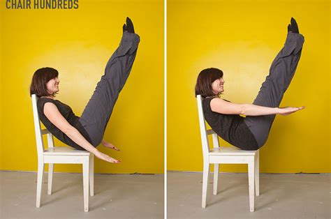 Chair Abs Workout by Pilates Abs Workout With A Chair Part One Beautylish