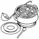 Soup Coloring Bowl Drawing Tureen Printable Pot Getdrawings Yummy Getcolorings Popular Soups Banana Results Kitchen sketch template