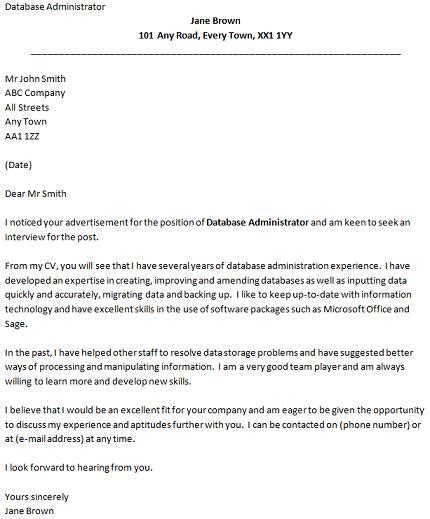 good covering letter examples database administrator cover letter example icover org uk 21970 | Database Administrator cover letter