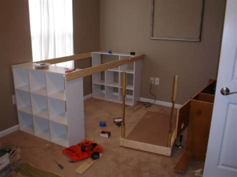 desk with storage cubes create your own home office desk