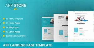wordpress squeeze page template - app store app landing page template download app store