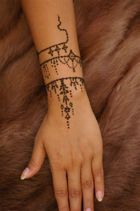 henna handgelenk ideen und anleitung zum henna selber machen tattoos