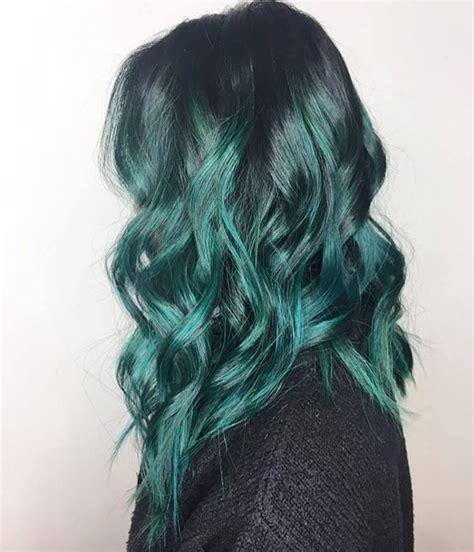 Teal Balayage Mermaid Hair Pravana Vivids Hair By